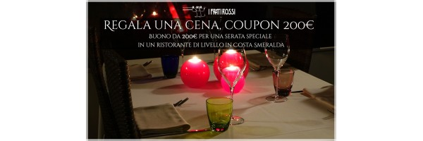 Regala una cena, coupon 200€